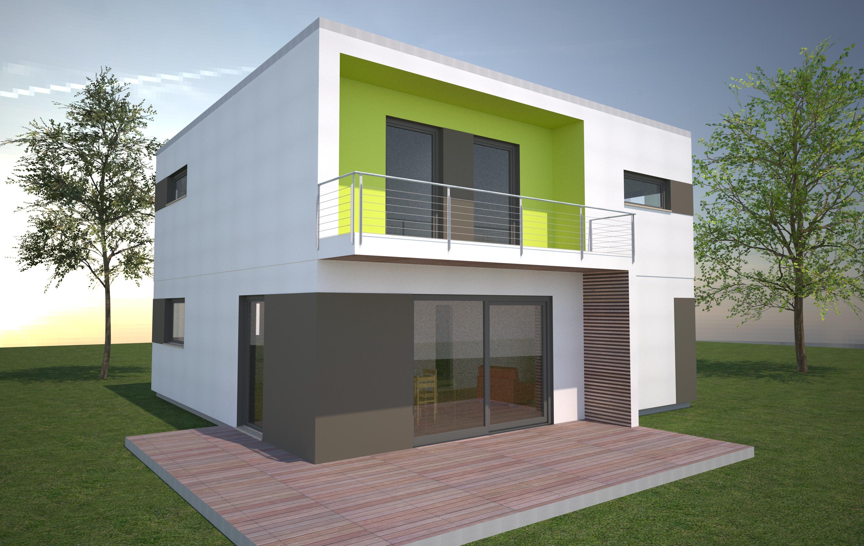 Schw rer h user boss architekten for Design fertighaus