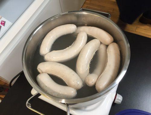 Einstands-Weißwurstfrühstück Frau Tolnai